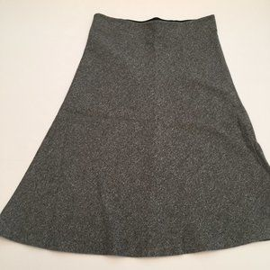 Loft Heathered Gray Elastic Waist Cotton Skirt S
